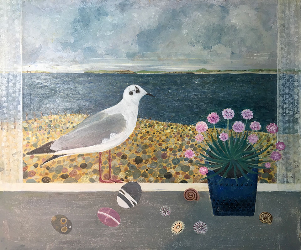 French Gull - Painting by Janet Coleman