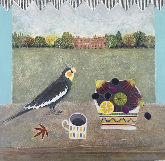 The Court - Painting by Janet Coleman